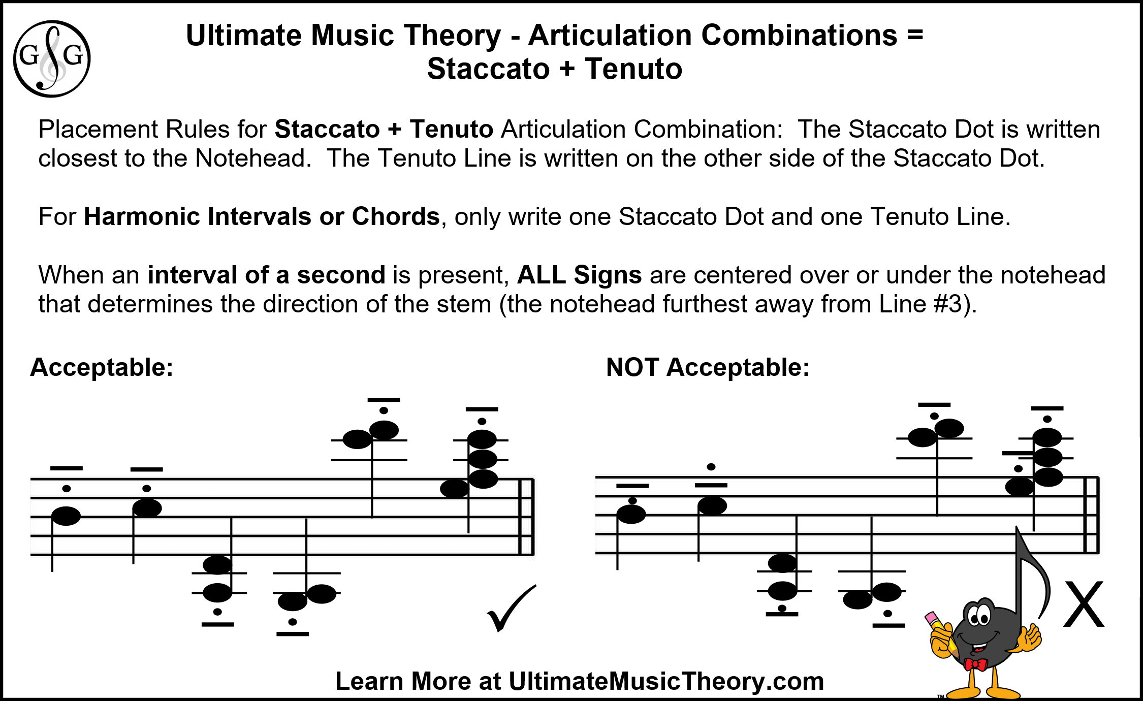 UMT Articulation Combinations Staccato and Tenuto