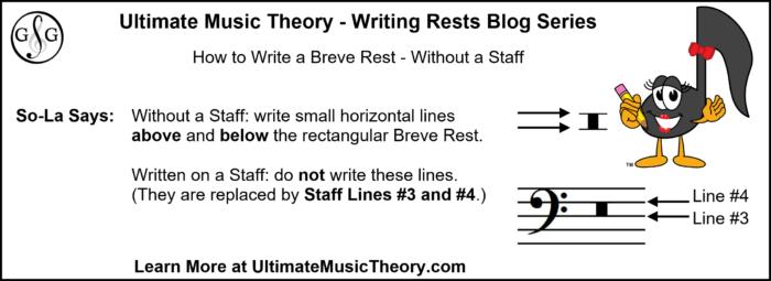 UMT Writing Rests - Breve Rest No Staff