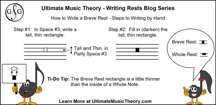 UMT Writing Breve Rest by Hand