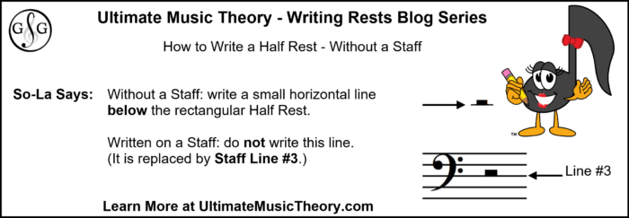 UMT Writing Rests Blog 3 - Half Rest without a Staff