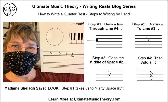 UMT Writing Rests Blog 4 - How to Write a Quarter Rest