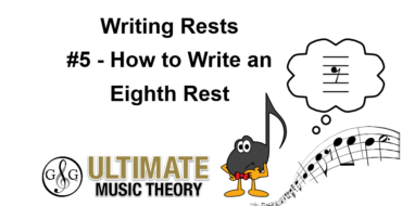 Writing Rests – Eighth Rest
