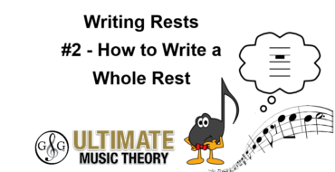 Writing Rests – Whole Rest