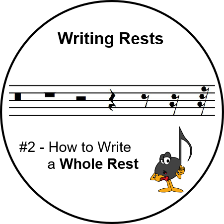 Whole Rest - Writing Rests - Ultimatemusictheory.com